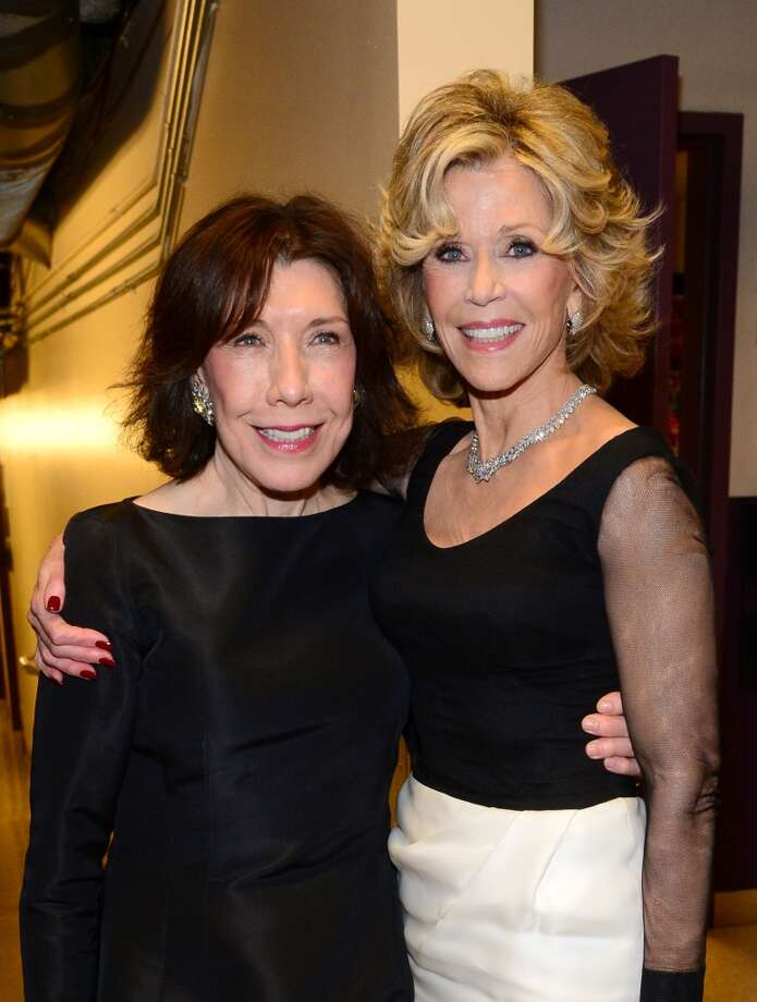 Actress Lily Tomlin (L) and honoree Jane Fonda attend the 2014 AFI Life Achievement Award: A Tribute to Jane Fonda at the Dolby Theatre on June 5, 2014 in Hollywood, California. Tribute show airing Saturday, June 14, 2014 at 9pm ET/PT on TNT.  (Photo by Frazer Harrison/Getty Images for AFI) Photo: Frazer Harrison, Getty Images For AFI