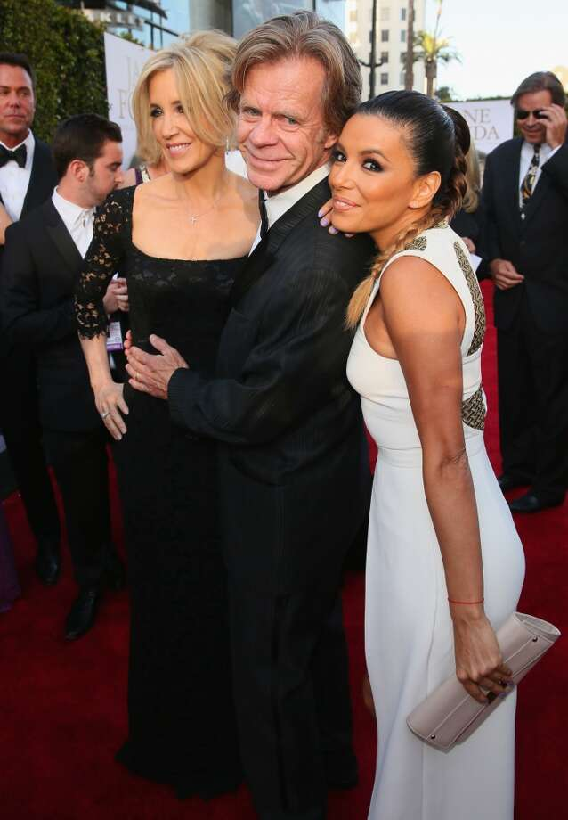 (L-R) Actors Felicity Huffman, William H. Macy and Eva Longoria attend the 2014 AFI Life Achievement Award: A Tribute to Jane Fonda at the Dolby Theatre on June 5, 2014 in Hollywood, California. Photo: Mark Davis, Getty Images For AFI