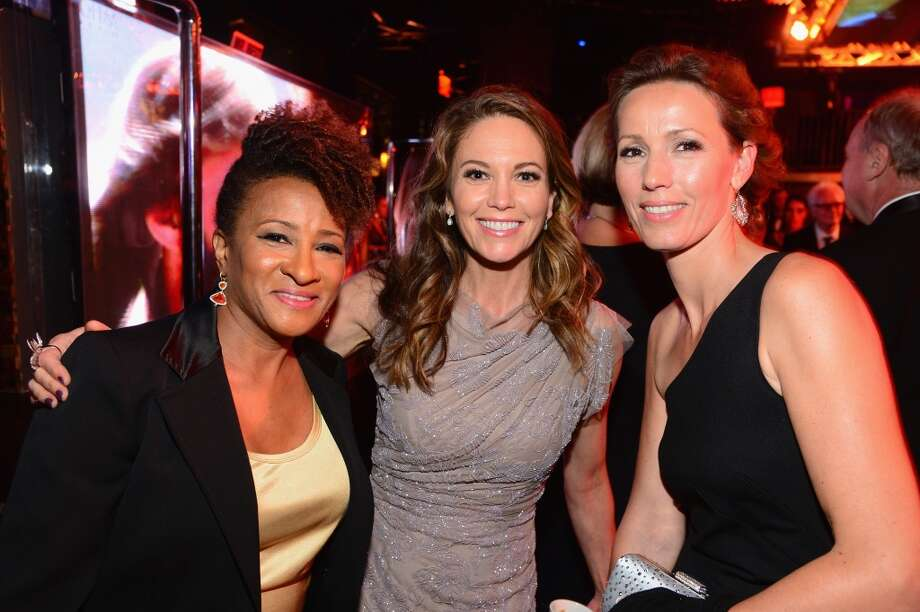 (L-R) Actresses Wanda Sykes and Diane Lane with Alex Sykes attend the 2014 AFI Life Achievement Award: A Tribute to Jane Fonda After Party at the Dolby Theatre on June 5, 2014 in Hollywood, California. Photo: Frazer Harrison, Getty Images For AFI