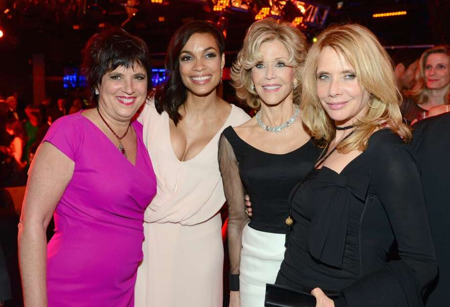 (L-R) Writer Eve Ensler, actress Rosario Dawson, honoree Jane Fonda, and actress Rosanna Arquette attend the 2014 AFI Life Achievement Award: A Tribute to Jane Fonda After Party at the Dolby Theatre on June 5, 2014 in Hollywood, California. Photo: Frazer Harrison, Getty Images For AFI