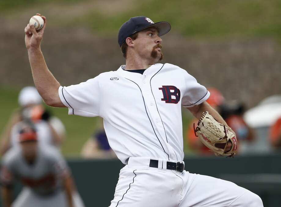 Cy Sneed, Dallas Baptist (Texas), RHP  3rd round, No. 85 overall - Milwaukee Brewers Photo: Jim Cowsert, AP