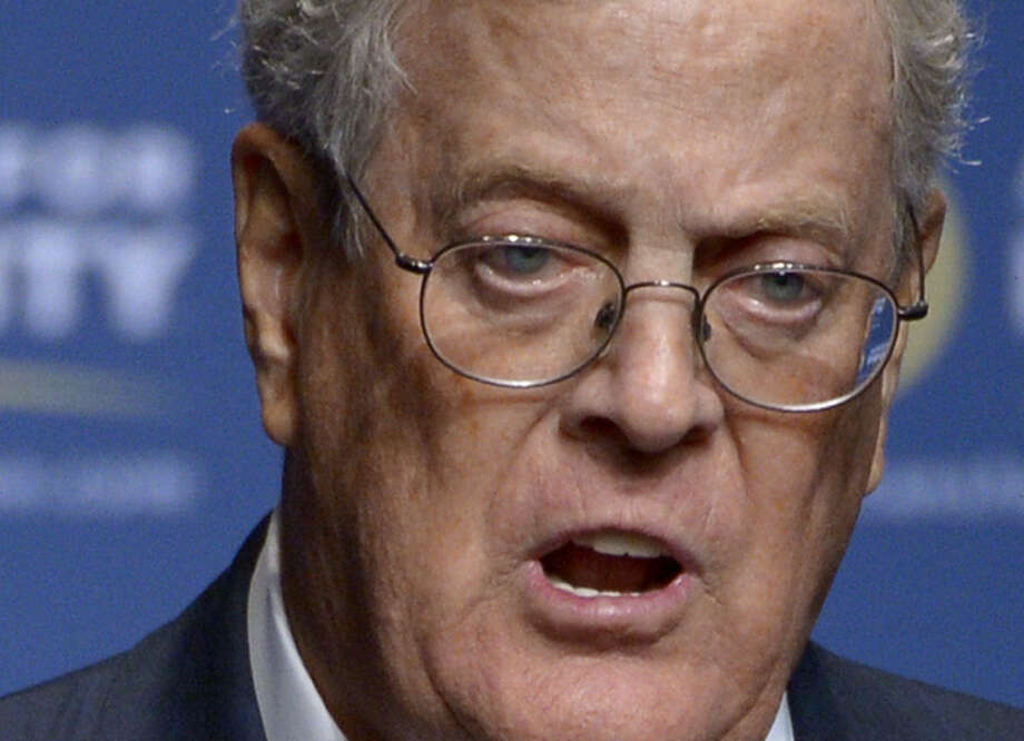 But we're guessing David Koch, shown here, and brother Charles will continue to invest a large share of their $86 billion in conservative candidates and causes. Photo: Associated Press File Photo / FR121174 AP