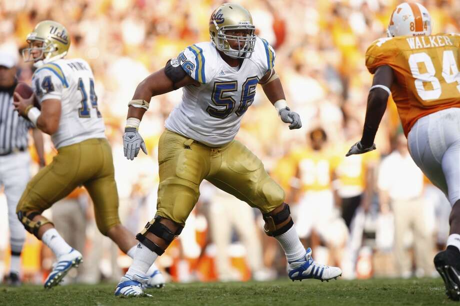 2nd round (33rd overall): Xavier Su'a-Filo, G, UCLA, 6-4, 307.Strengths – The highest-rated guard in the draft, he ran a 4.97 in the 40 in his pro-day workout, not too shabby for a 300-pounder. He's super-strong in the upper body with excellence balance and flexible hips, allowing him to move well laterally in passing situations. The same internal strengths that made him an Eagle Scout as a kid have stayed with him. He kills himself in the weight room. At 23, he's also more mature than most rookies, having spent two years doing Mormon mission work. Photo: Joe Robbins, Getty Images