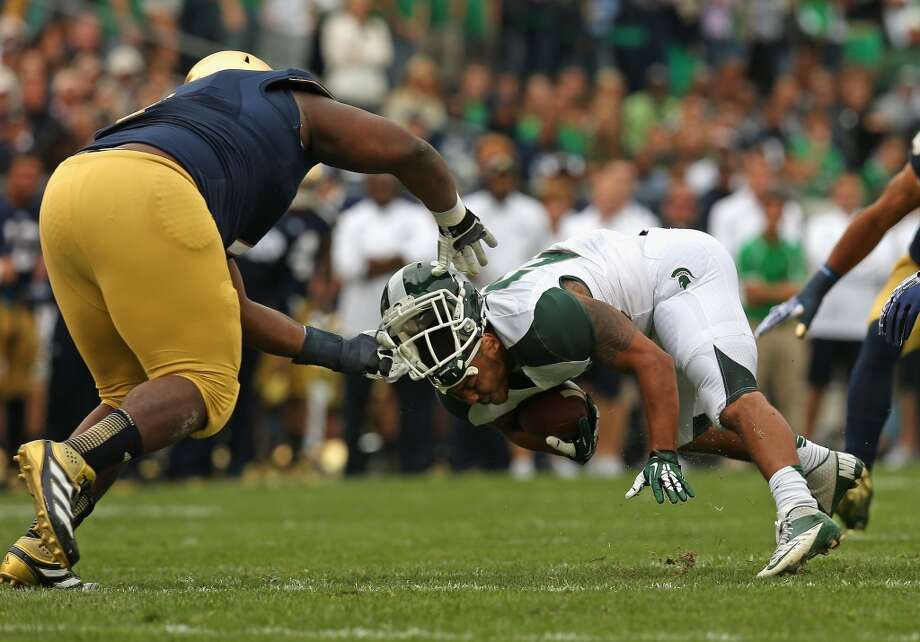 3rd round (83rd overall): Louis Nix, DT, Notre Dame, 6-2, 331.  Weaknesses – He was overweight to start the season last fall, then got hurt, which could hinder his chances of contributing for the Texans straight away. He struggled with double teams in college, which doesn't bode well for his handling same at the pro level. He sometimes lets his emotions get the best of him, which will attract undue attention from NFL officials. Photo: Jonathan Daniel, Getty Images