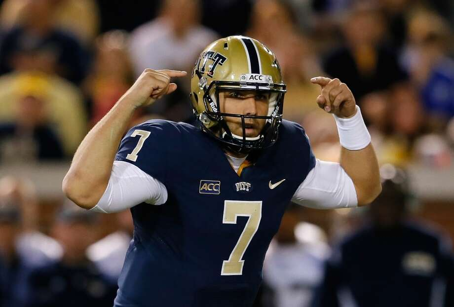 4th round (135th overall): Tom Savage, QB, Pitt, 6-4, 228.  College career – Highly recruited out of high school, he earned the starting job as a true freshman for Greg Schiano on a Rutgers team that won nine games. But he lost same after suffering a hand injury as a sophomore and transferred to Arizona, where he never played for Rich Rodriguez, before transferring again to Pitt. A senior co-captain for the Panthers, he threw for 24 touchdowns – completing 61.2 percent of his passes – and scored three himself. Photo: Kevin C. Cox, Getty Images