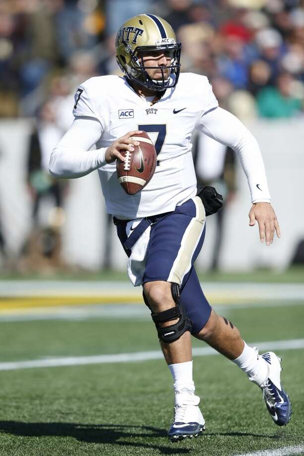 4th round (135th overall): Tom Savage, QB, Pitt, 6-4, 228.  Strengths – He looks the part of an NFL quarterback with broad shoulders and a pretty good arm, if not quite a cannon. He also throws a pretty ball, with a nice, tight spiral. He earned a reputation for physical and mental toughness, particularly when he's under fire in the pocket. At 24, he's mature for a rookie. Photo: Joe Robbins, Getty Images