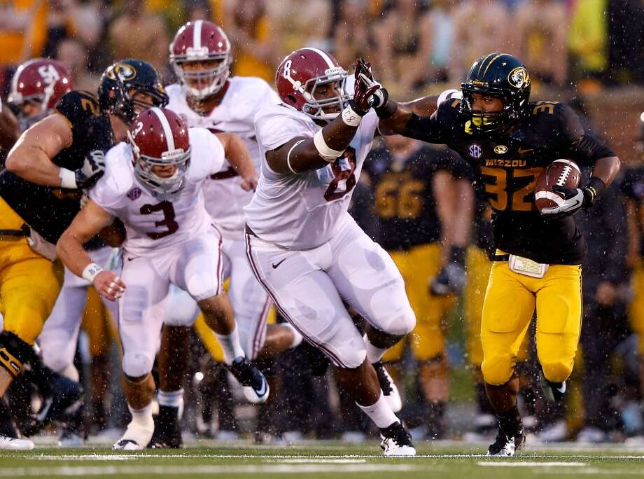 6th round (177th overall): Jeoffrey Pagan, DE, Alabama, 6-4, 310.Strengths – He's a block of granite who blows off the ball, then holds his ground on running plays, waiting for the action to come to him. Having played at Alabama, he has been well-coached and is used to playing in a big-time environment. The NFL Advisory Committee rated him a potential third-round pick, which is why he decided to come out early. Photo: Jamie Squire, Getty Images