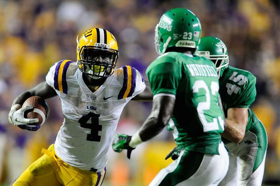 6th round (181st overall): Alfred Blue, RB, LSU, 6-2, 223.Weaknesses – His durability is untested because he hasn't played that much.  He missed most of the 2012 season after suffering a knee injury. Photo: Stacy Revere, Getty Images