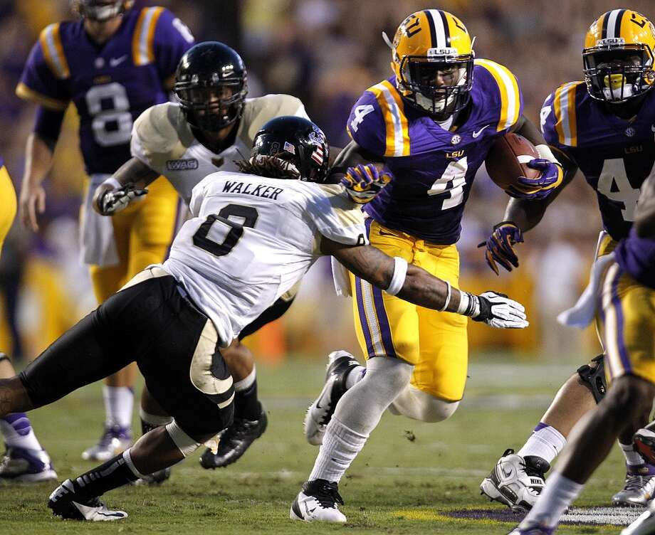 6th round (181st overall): Alfred Blue, RB, LSU, 6-2, 223.  How he'll be used this season – He'll be given a chance to compete for the backup spot behind Arian Foster and he'll be expected to contribute on special teams, although played only a tiny role as returner at LSU. Spencer Ware had a similar career as a Tiger and now plays a niche role for the Super Bowl champion Seahawks. That's a model Blue will likely follow. Photo: Gerald Herbert, Associated Press