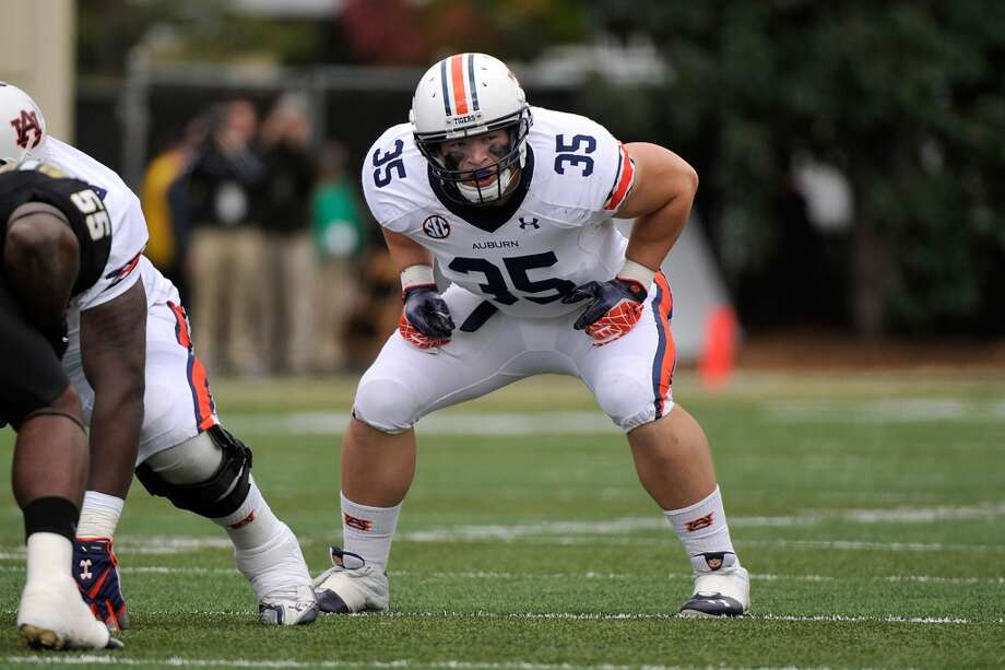 6th round (211th overall): Jay Prosch, FB, Auburn, 6-1, 254.  Strengths – He was rated the best lead blocker in the draft, but this shows how minimally important NFL teams consider fullbacks these days. He's decisive and determined and his strength makes him an effective pass protector. (Pretty good hands, too, so Texans might look at him in the passing game.) He's got a big motor in the weight room and on the field. Photo: Frederick Breedon, Getty Images