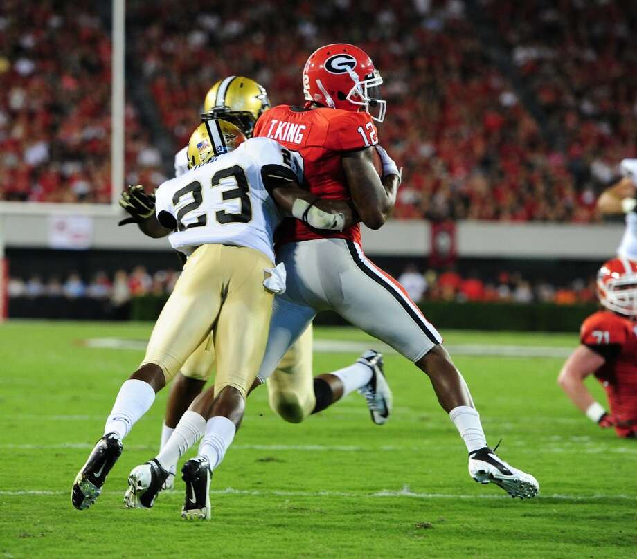 7th round (216th overall): Andre Hal, CB, Vanderbilt, 5-11, 188.College career – He became a full-time starter at Vanderbilt as a junior and then took his game to a higher level as a senior with 49 tackles – making 6½ behind the line of scrimmage – three picks and 18 passes defensed. He earned second-team All-SEC honors at corner both years. He also averaged 23 yards per kick return with a touchdown. Photo: Scott Cunningham, Getty Images