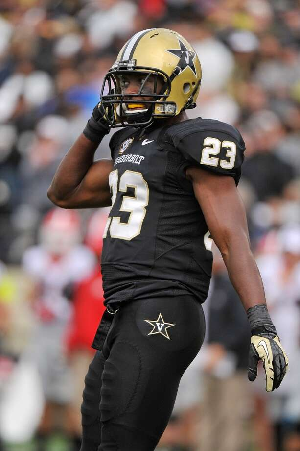 7th round (216th overall): Andre Hal, CB, Vanderbilt, 5-11, 188.Weaknesses – Overall size, short arms and small hands could get him overwhelmed at times in the NFL. He doesn't recover well when beat by a receiver and sometimes reacts slowly. He was never asked to jam receivers at the line of scrimmage, which he'd have to do as an NFL corner. Photo: Frederick Breedon, Getty Images