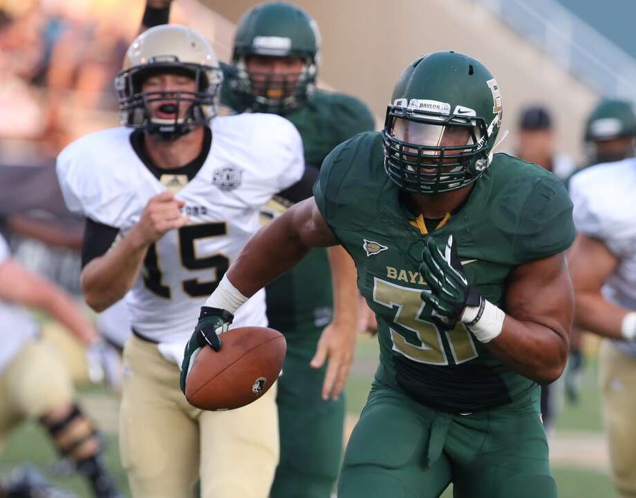Undrafted free agent: Chris McAllister, DE, Baylor, 6-3, 255. Photo: Rod Aydelotte, Associated Press