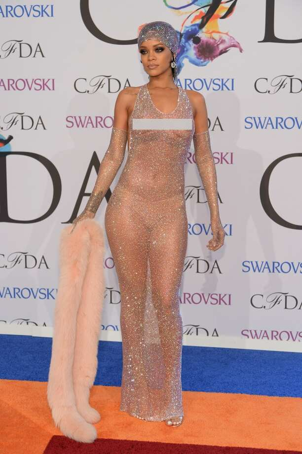 Rihanna attends the 2014 CFDA fashion awards at Alice Tully Hall, Lincoln Center on June 2, 2014 in New York City. Photo: Getty Images