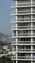 Pacific Heights Towers is a 20-story tower across from Lafayette Park at Sacramento and Laguna streets. The base is unfriendly, but the 1964 tower's distinct contrast to nearby historic landmarks no longer is as jarring as when it was built.