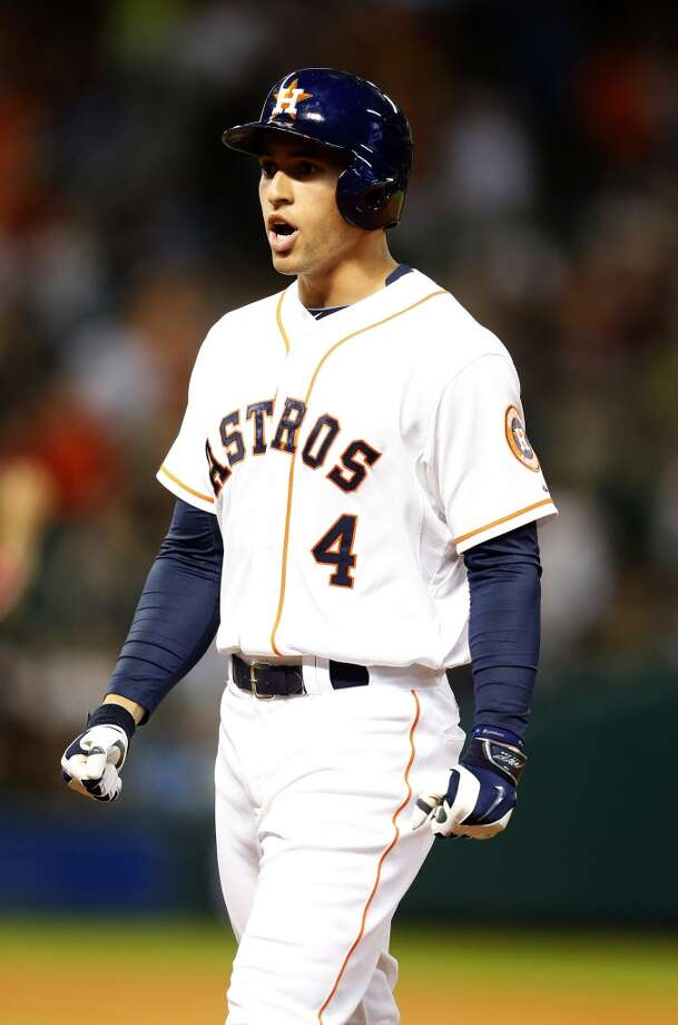 June 5: Astros 8, Angels 5George Springer came up with a pair of much-needed insurance runs, ones the Astros used in holding off the Angels.  Record: 26-35. Photo: Karen Warren, Houston Chronicle