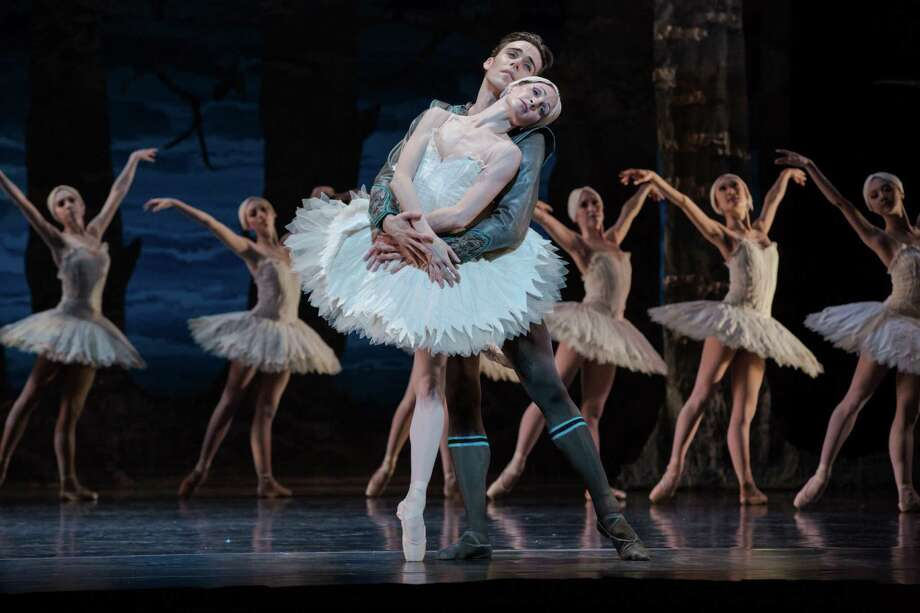 "Sara Webb and Connor Walsh bring a tender sense of tragedy to the leading roles in Houston Ballet's ""Swan Lake,"" choreographed by Stanton Welch with scenery and costumes by Kristian Fredrikson. Photo: Amitava Sarkar / ONLINE_YES"