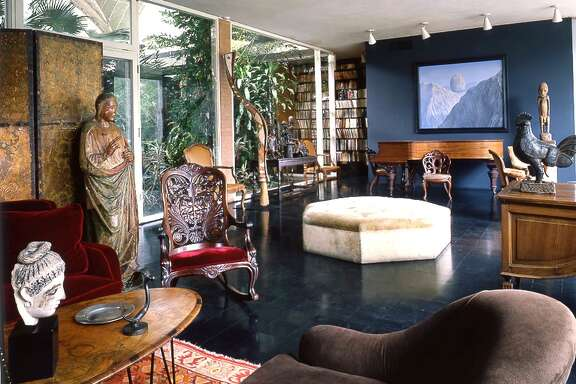 "Alison Lurie on the Menil House, circa 1964: ""This is the living room of a very rich and pretentious businessperson. I wouldn't say a politician, it's not public enough and there are not enough places to sit down. They are very eccentric because they aren't making any effort to stick to one style and unconventional because they don't care that things don't match."" Photo: Balthazar Korab"