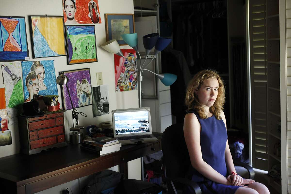 Kendall Anderson, 20, pictured June 6, 2014 in her home in Atherton, Calif. Anderson, who attends Mills College, reported being raped in her campus apartment in September 2013. Because the man accused was not a student, Mills wasn't able to do much about it. Anderson says that the police officers who handled her case in Oakland treated her horribly. She was told that it wasn't rape, that she hadn't struggled hard enough to prove that it hadn't been consensual. According to Anderson, the experience with the police investigation was so bad that it made her want to drop it.