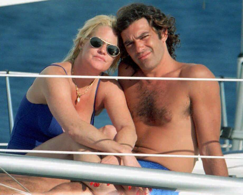We look back at some surprising (and maybe not-so-surprising) celebrity splits.   Melanie Griffith and Spanish actor Antonio Banderas, seen here on a yacht in 1995, have split. Griffith filed for divorce. Photo: JUAN ZARZUELA, Associated Press