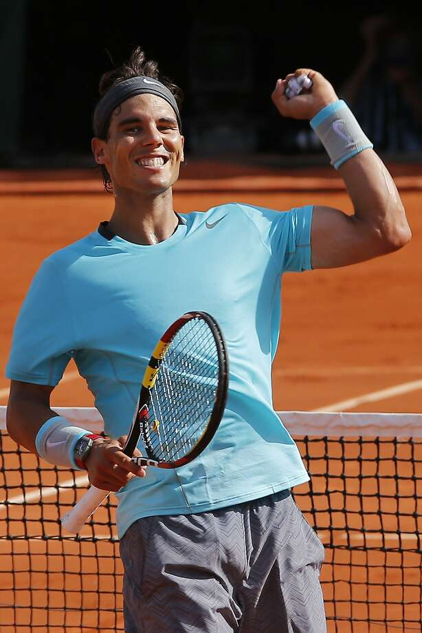 Rafael Nadal advanced to the final with a three-set, 100-minute win over Andy Murray. Photo: David Vincent, Associated Press