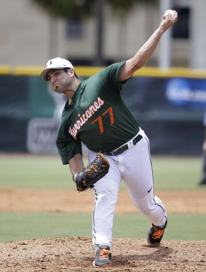 9th round - No. 256 overall  Bryan Radziewski, LHP, 5-10, 190, Miami  Not pictured:  10th round - No. 286 overall  Jay Gause, RHP, 6-4, 250, Faulkner U (Alabama)  11th round - No. 316 overall  Dean Deetz, RHP, 6-1, 190, Northeastern Oklahoma A&M (OK).  12th round - No. 346 overall  Ryan Bottger, OF, 6-0, 210, Texas-Arlington  13th round - No. 376 overall  Jamie Ritchie, C, 6-2, 190, Belmont  14th round - No. 406 overall  Nick Tanielu, 2B, 5-11, 205, Washington State  15th round - No. 436 overall   Connor Goedert, 3B, 6-3, 195, Neosho County CC (Kan.)  16th round - No. 466 overall   Ramon Laureano, OF, 5-11, 185, Northeastern Oklahoma A&M Photo: Lynne Sladky, AP