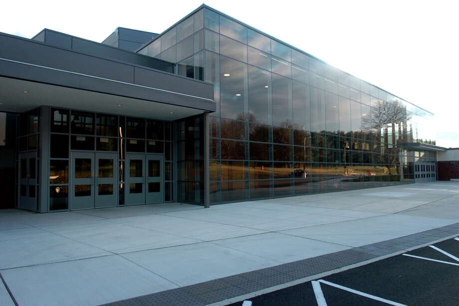 Exterior of Trumbull High School, in Trumbull, Conn. Jan. 2nd, 2012. Photo: Ned Gerard / Connecticut Post