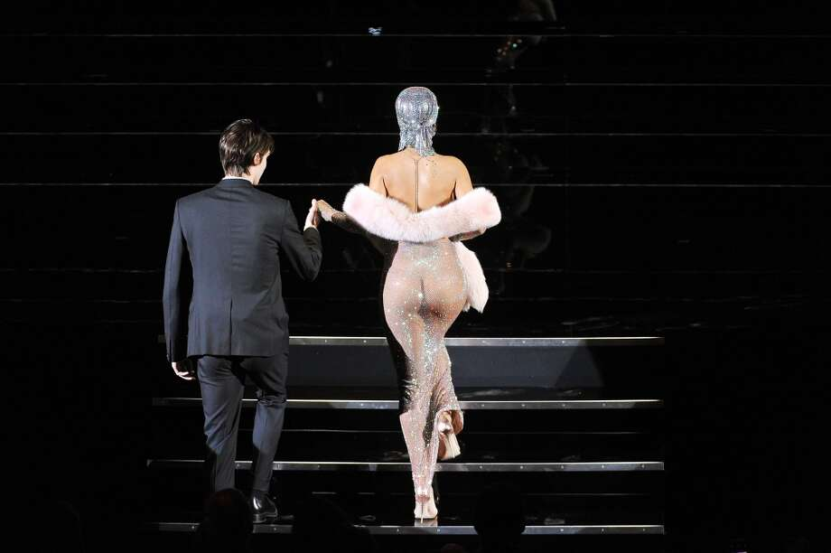 Rihanna walks onstage at the 2014 CFDA fashion awards at Alice Tully Hall, Lincoln Center on June 2, 2014 in New York City. Photo: Getty Images