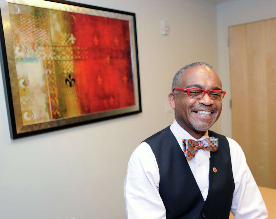 Dr. Paul Lowe, managing director of Greenwich Admissions Advisors, in his Greenwich office, Friday afternoon, June 6, 2014. Lowe is a college admissions expert. Photo: Bob Luckey / Greenwich Time