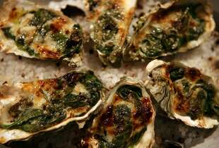 ... these tasty-looking Oysters Rockefeller.