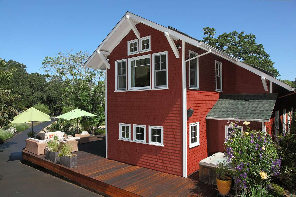 The two-story home was originally a schoolhouse and was renovated in 2009.Ê