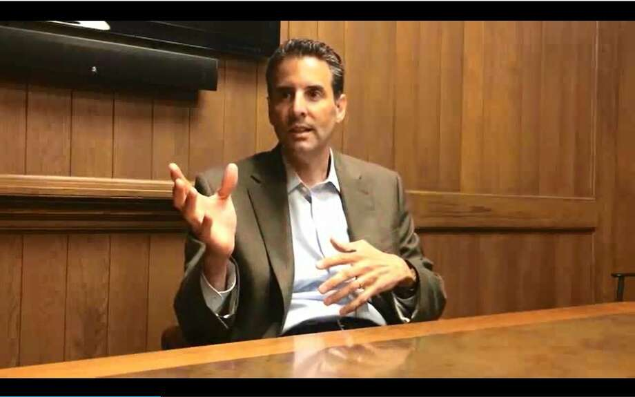 John Sarbanes speaks to Chronicle editorial board, June 3, 2014. Photo: John Diaz, Screenshot