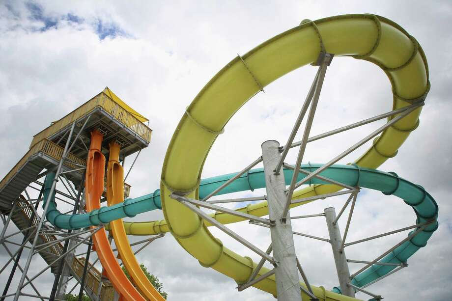 The Bahama Blaster water slide at Six Flags Fiesta Texas is pictured on Friday, June 6, 2014. Bahama Blaster, new for the park's 2014 season, features four body slides and is touted as the world's steepest. Photo: Timothy Tai, San Antonio Express-News / © 2014 San Antonio Express-News