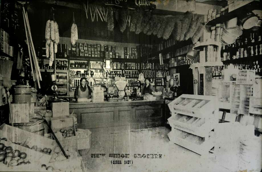 A photo circa 1926 shows the New Union Grocery Store. The store chenge hands several times and eventually becake Speedy's. a Telegraph Hill favorite for more than 90 years. Owner Pierre Houle has decided to sell the business so he can spend more time at home. Photo courtesy Pierre Houle Photo: Kim Komenich, Photo Courtesy Pierre Houle