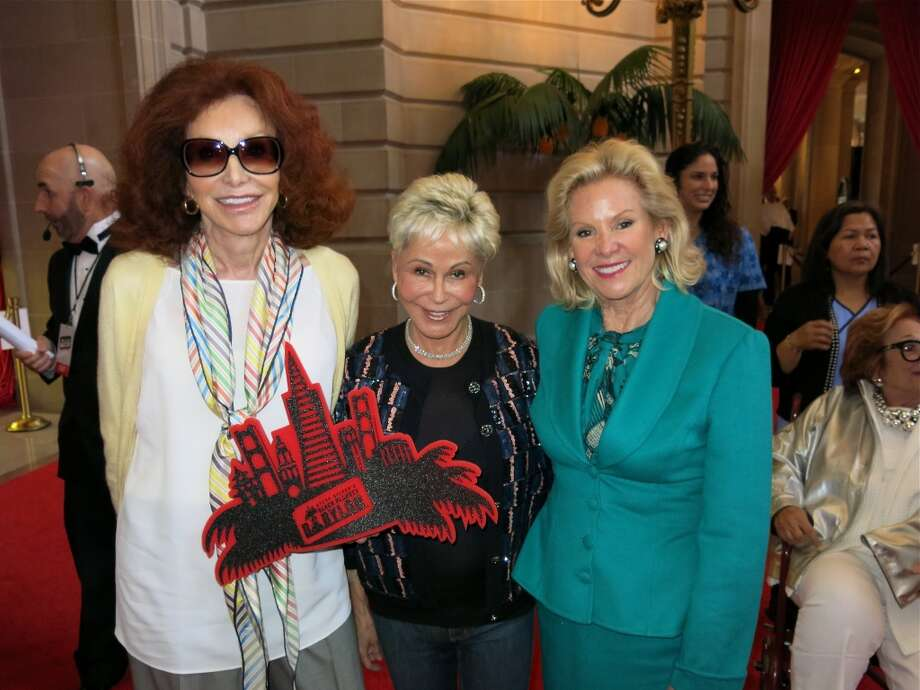 Ann Getty (left) with Jo Schuman Silver and Fine Arts Museums Board President Dede Wilsey. Photo: Catherine Bigelow