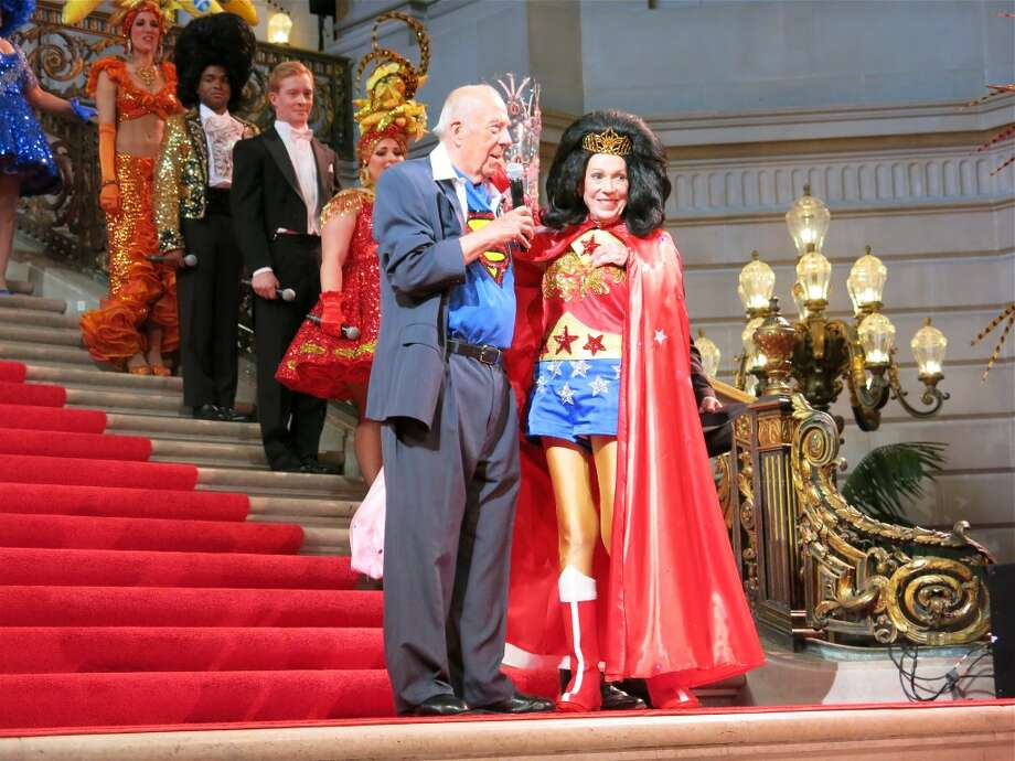 Former Secretary of State George Shultz and his missus, Protocol Chief Charlotte Shultz, entertain with superhero charm. Photo: Catherine Bigelow