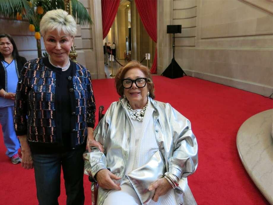 Jo Schuman Silver (left) and dedicated BBB fan Ellen Magnin Newman Photo: Catherine Bigelow