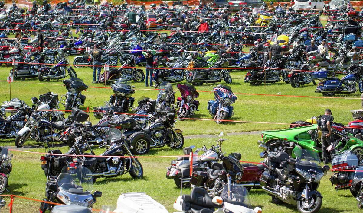 Over 50,000 people were in attendance for the Americade motorcycle rally in Lake George, N.Y. on Friday, June 6, 2014. (Tom Brenner/ Special to the Times Union)