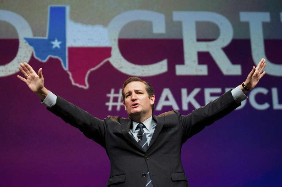 """U.S. Sen. Ted Cruz told delegates at the GOP state convention in Fort Worth that """"today liberty is under assault like never before."""" Photo: Rex C. Curry, FRE / FR41626AP"""