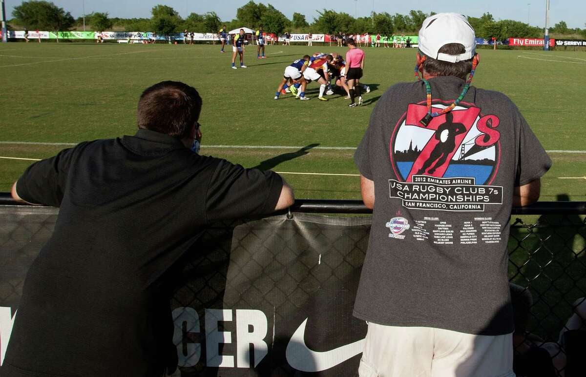 A few fans came out to see a Sevens rugby match on Friday at Houston Sports. The U.S. vs. Scotland match on Saturday is expected to break a record.