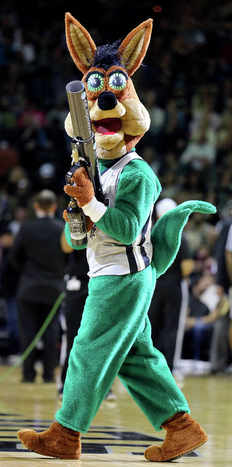 The Spurs Coyote performs during a timeout Sunday, March 16, 2014 at the AT&T Center. Photo: Edward A. Ornelas, San Antonio Express-News File Photo / © 2014 San Antonio Express-News