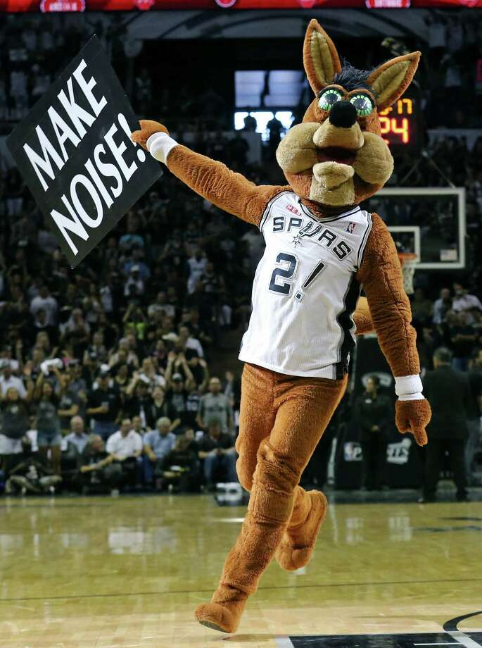 The San Antonio Spurs Coyote performs during Game 7 in the first  round of the Western Conference playoffs against the Dallas Mavericks Sunday, May 4, 2014 at the AT&T Center. Photo: Edward A. Ornelas, San Antonio Express-News File Photo / © 2014 San Antonio Express-News
