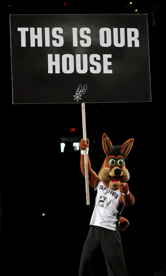 The San Antonio Spurs Coyote performs during Game 5 of the Western Conference finals Thursday, May 29, 2014 at the AT&T Center. Photo: Edward A. Ornelas, San Antonio Express-News File Photo / © 2014 San Antonio Express-News