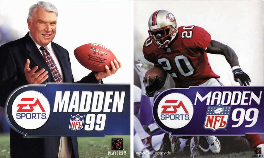 "Madden 99: Garrison Hearst  ""Madden 99"" was the first in the franchise to feature a player on the cover -- but not in North America. John Madden himself was still featured on the NTSC-format version of the game, but San Francisco 49ers running back Garrison Hearst took over the cover for the PAL video-format edition. Photo: Promotional Images, Electronic Arts"