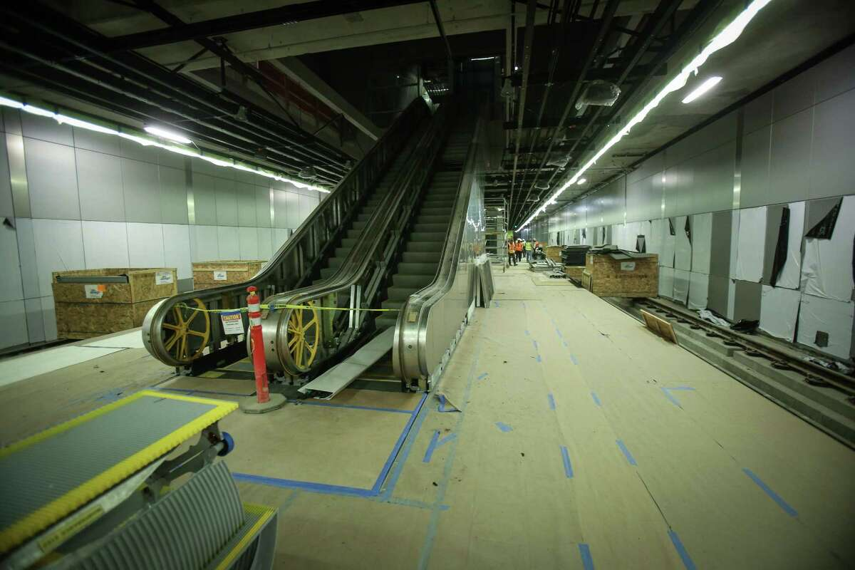 The interior of the University of Washington station is shown during a tour of SoundTransit's U-Link light rail tunnels between the University of Washington, Capitol Hill and Pine Street next to the Paramount. Photographed on Friday, June 6, 2014.