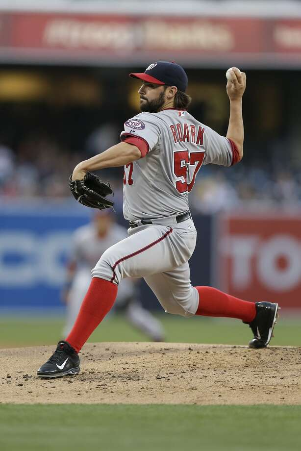 Washington Nationals starting pitcher Tanner Roark pitches to a San Diego Padres batter during the first inning of a baseball game Friday, June 6, 2014, in San Diego. (AP Photo/Gregory Bull) Photo: Gregory Bull, Associated Press