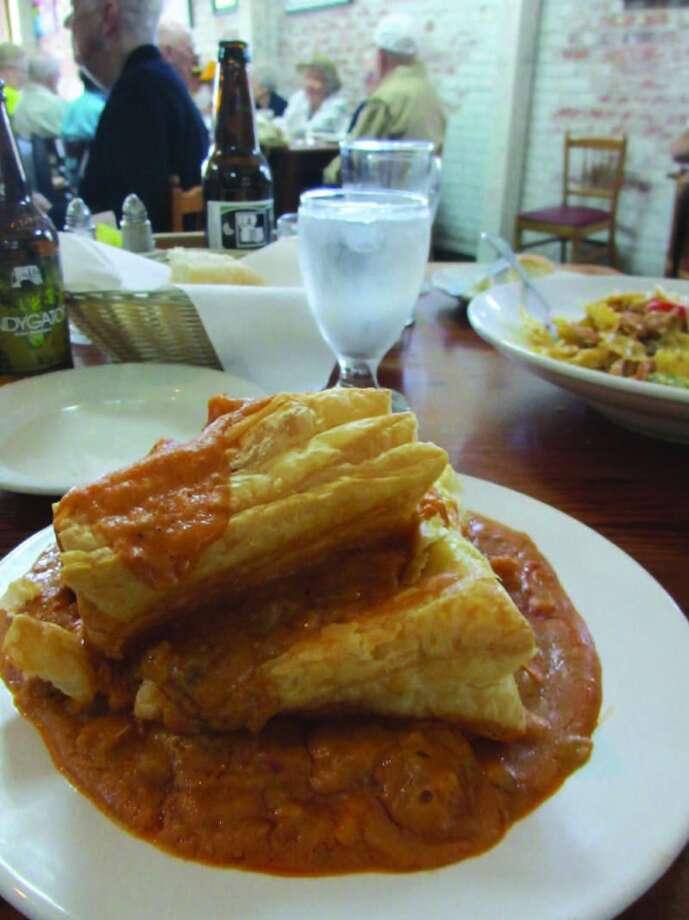 The crawfish pie at Cafe Des Amis in Breaux Bridge was delicious. Photo: Terry Scott Bertling, San Antonio Express-News