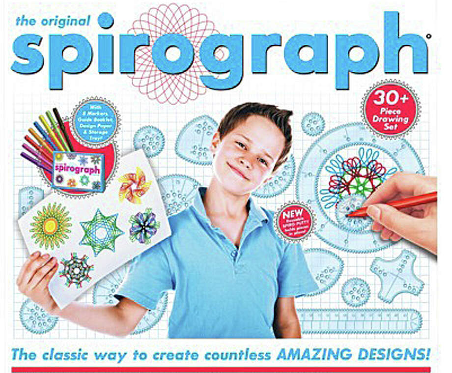 "Westport News columnist Krista Richards Mann writes: ""I bought my son a small Spirograph kit ó the geometric-drawing toy. I had the same toy as a child and have fond memories of colored ballpoint pens and the notched plastic roulettes that create elaborate hypotrochoid curves ... The Spirograph reminded me how much I like to make things and how seldom we create with our hands anymore."" Photo: Contributed Photo / Westport News"