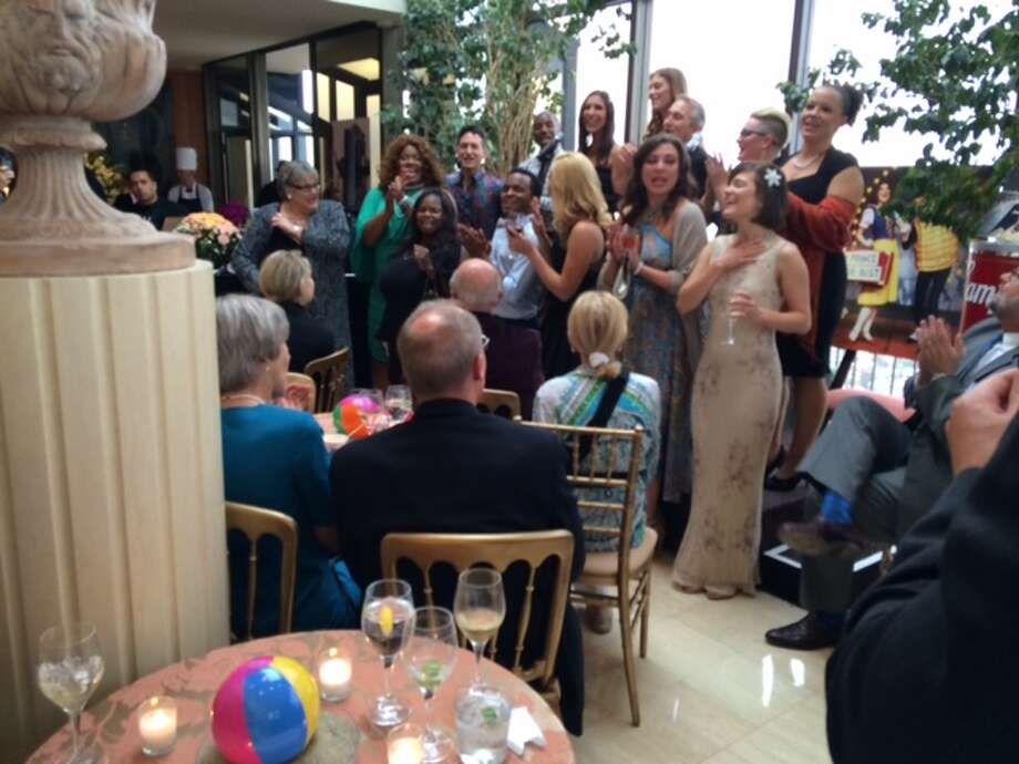 'BBB' cast sings at Shultzes' party Photo: Leah Garchik