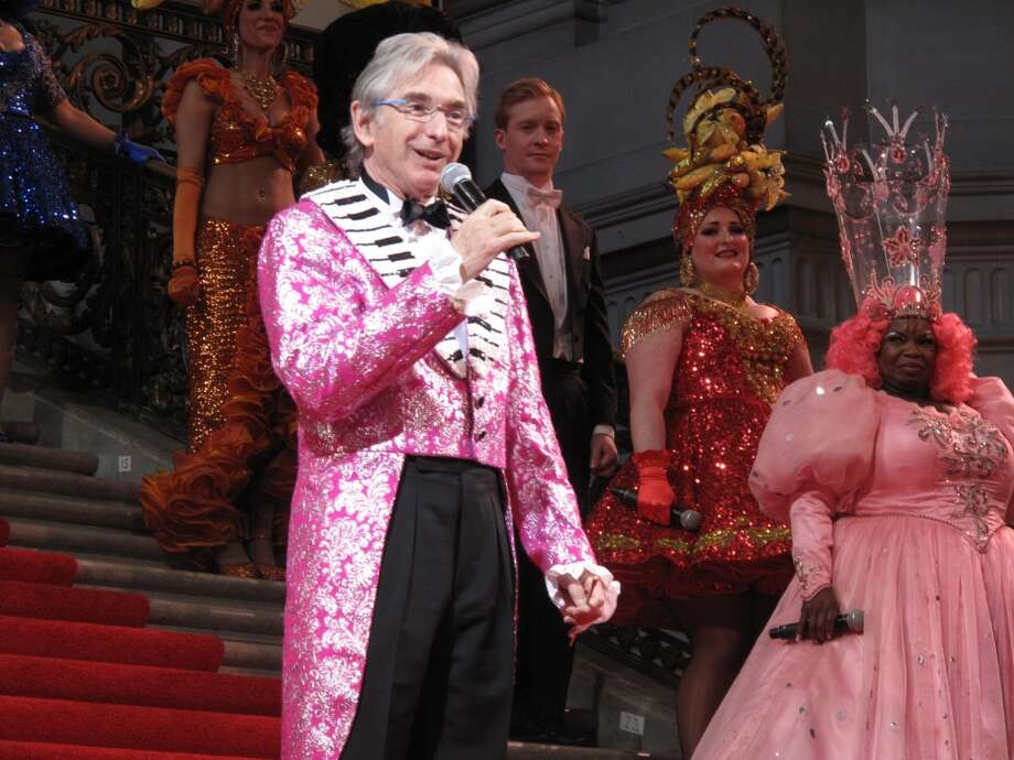 Michael Tilson Thomas abandons customary blue for pink glitter Photo: Leah Garchik